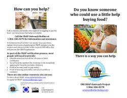 How can you help? Do you know someone buying food?