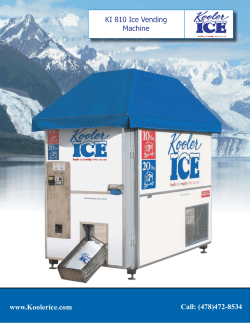 KI 810 Ice Vending Machine Call: (478)472-8534 www.Koolerice.com