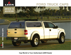FORD TRUCK CAPS Cap World is Your Authorized LEER Dealer