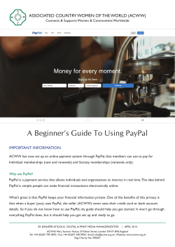 1 A Beginner's Guide To Using PayPal ImPOrtant InfOrmatIOn