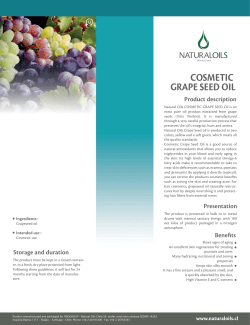 COSMETIC GRAPE SEED OIL Product description