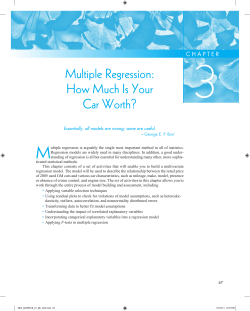 3 M Multiple Regression: How Much Is Your