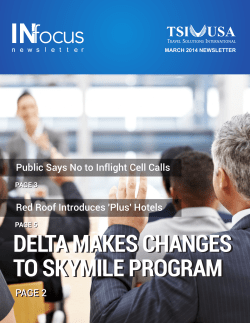 DELTA MAKES CHANGES TO SKYMILE PROGRAM Red Roof Introduces 'Plus' Hotels