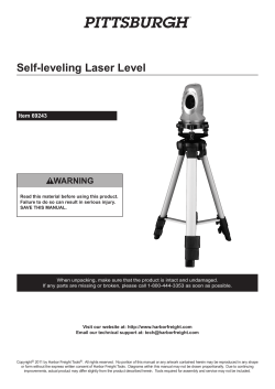 Self-leveling Laser Level Item 69243