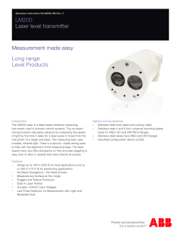 LM200 Laser level transmitter Measurement made easy Long range
