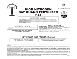 high nitrogen bat guano Fertilizer 7-4-1 guaranteeD analYSiS