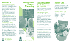 Green Cleaning Recycler's Guide to Make Your  Own