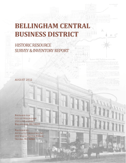 Bellingham Central District. Historic Resource Survey Inventory
