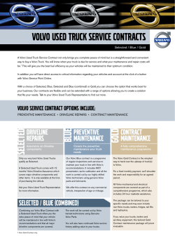 Volvo used truck Service Contracts