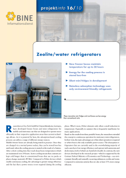 Zeolite/water refrigerators