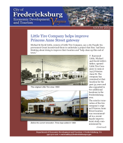 V Fredericksburg irginia Little Tire Company helps improve
