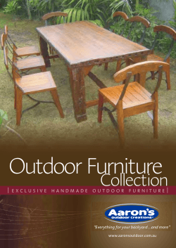 "Outdoor Furniture Collection ""Everything for your backyard…and more"""