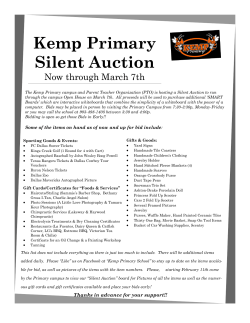 Kemp Primary Silent Auction Now through March 7th Organization
