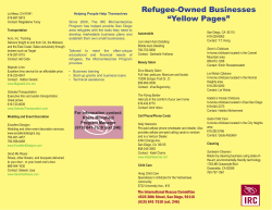 "Refugee-Owned Businesses ""Yellow Pages"""