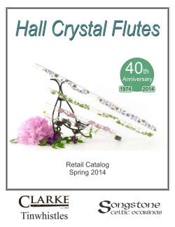 Hall Crystal Flutes 40 Retail Catalog Spring 2014