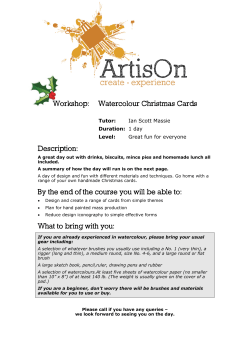 Workshop: Watercolour Christmas Cards Description: