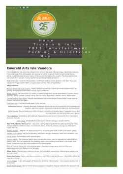 Emerald Arts Isle Vendors