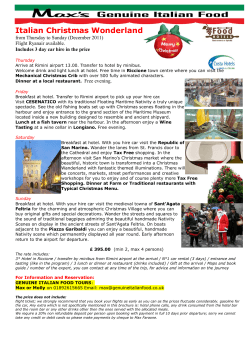 Italian Christmas Wonderland from Thursday to Sunday (December 2011) Flight Ryanair available.