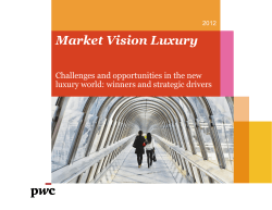 Market Vision Luxury Challenges and opportunities in the new 2012