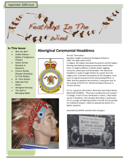 Aboriginal Ceremonial Headdress In This Issue: September 2009 Issue