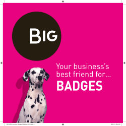 BADGES Your business's best friend for… BIG_2659_brochure_Badges_Finished_AWV1.indd   1