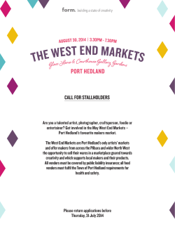 CALL FOR STALLHOLDERS