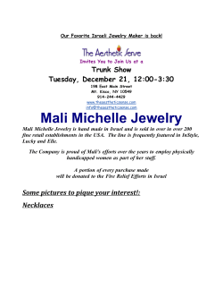 Mali Michelle Jewelry Trunk Show Tuesday, December 21, 12:00-3:30