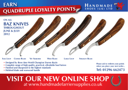 EARN QUADRUPLE LOYALTY POINTS BAZ KNIVES