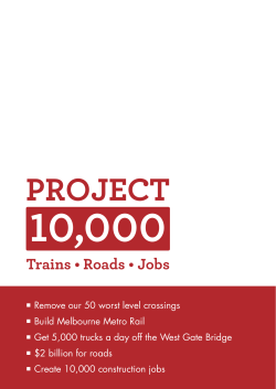 10,000 Project Trains • Roads • Jobs