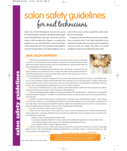 salon safety guidelines for nail technicians