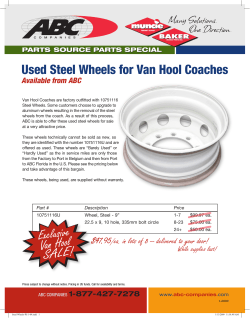 Used Steel Wheels for Van Hool Coaches
