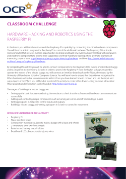 CLASSROOM CHALLENGE HARDWARE HACKING AND ROBOTICS USING THE RASPBERRY PI