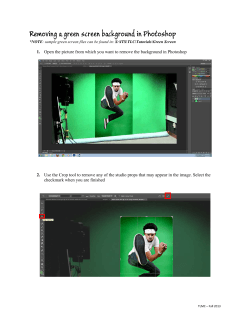 Removing a green screen background in Photoshop  1.