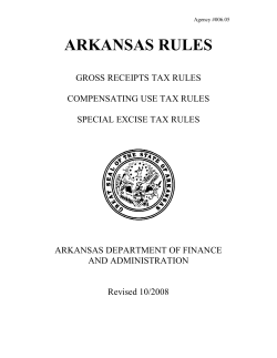 ARKANSAS RULES