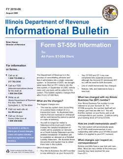 Form ST-556 Information To: All Form ST-556 filers
