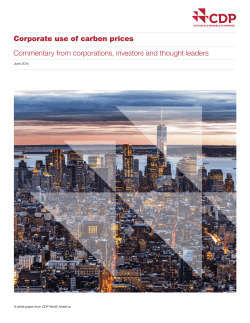 Corporate use of carbon prices June 2014