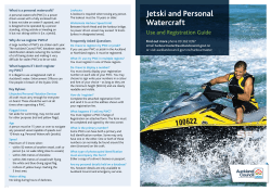 Jetski and Personal  What is a personal watercraft?