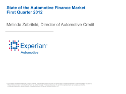 State of the Automotive Finance Market First Quarter 2012