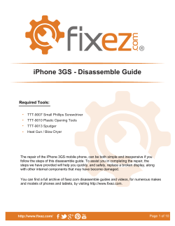 iPhone 3GS - Disassemble Guide