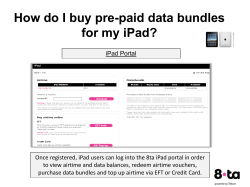 How do I buy pre-paid data bundles for my iPad?