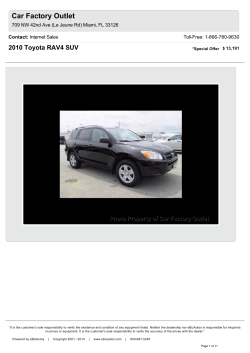 Car Factory Outlet 2010 Toyota RAV4 SUV Contact: