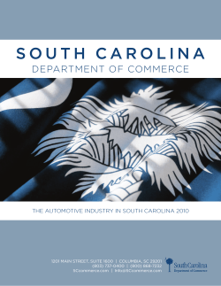 S o u t h   C a r... department of commerce the automotive industry in south carolina 2010 5