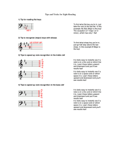 Tips and Tricks for Sight-Reading