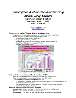Prescription & Over-the-Counter Drug Abuse: Drug Seekers American Indian Section