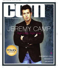 JEREMY CAMP + Right Here, Right Now CAEDMON'S CALL