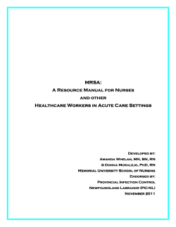 MRSA: A Resource Manual for Nurses