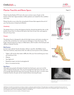 .org Plantar Fasciitis and Bone Spurs