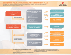 SIMPLIFYING YOUR ATRIAL FIBRILLATION TREATMENT PLAN