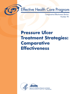 Pressure Ulcer Treatment Strategies: Comparative Effectiveness