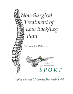 Non-Surgical Treatment of Low Back/Leg Pain